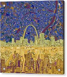 St Louis Skyline Abstract 9 Acrylic Print