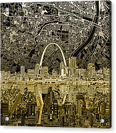 St Louis Skyline Abstract Acrylic Print by Bekim Art