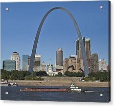 St Louis Skyline Acrylic Print by Garry McMichael