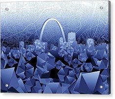 St Louis Skyline Geometric2 Acrylic Print