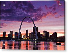 St Louis Sunset Acrylic Print by Garry McMichael