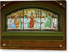 St Louis Union Station Allegorical Window Acrylic Print by Greg Kluempers