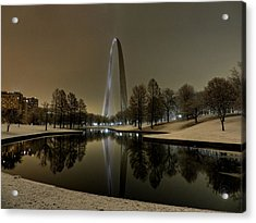 St. Louis - Winter At The Arch 004 Acrylic Print