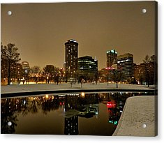 St. Louis - Winter At The Arch 007 Acrylic Print by Lance Vaughn