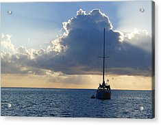 Acrylic Print featuring the photograph St. Lucia - Cruise - Sailboat by Nora Boghossian