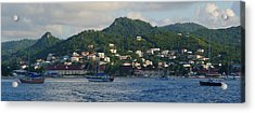 Acrylic Print featuring the photograph St. Lucia - Cruise - Three Boats by Nora Boghossian
