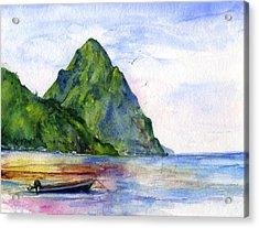 St. Lucia Acrylic Print
