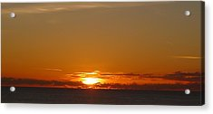 Acrylic Print featuring the photograph St. Lucia - Sunset by Nora Boghossian