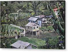 Acrylic Print featuring the painting St Lucian Spot by Dottie branchreeves
