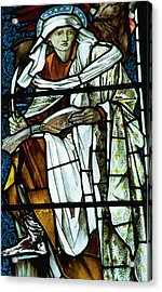St Luke In Stained Glass Acrylic Print by Philip Ralley
