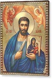 St. Luke Acrylic Print by Zorina Baldescu