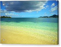 St. Maarten Tropical Paradise Acrylic Print