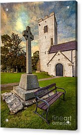 St. Marcellas Celtic Cross Acrylic Print by Adrian Evans
