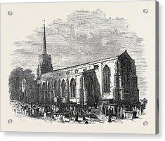St. Margarets Church Lowestoft Lately Restored 1871 Acrylic Print by English School