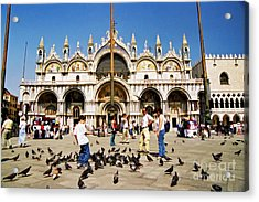 Acrylic Print featuring the photograph St. Mark's Basilica  by Allen Beatty