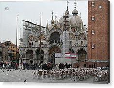 St Marks Bassilica Acrylic Print by Dick Willis