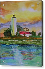 St. Marks Lighthouse-2 Acrylic Print by Warren Thompson