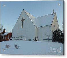 St. Marks Lutheran Church Acrylic Print by Charlotte Gray
