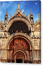 St. Marks Square Acrylic Print by John Rizzuto