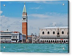 Acrylic Print featuring the photograph St. Mark's Square by William Wyckoff