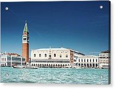 St Marks Square With Venice Skyline Acrylic Print by Franckreporter