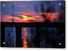 Acrylic Print featuring the photograph St. Marten River Sunset by Bill Swartwout