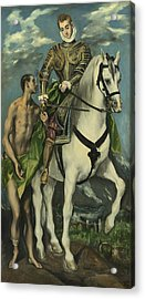 St. Martin And The Beggar Acrylic Print by Domenico Theotocopuli El Greco