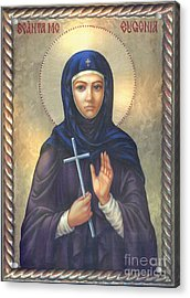 St. Martyr Eugenia Acrylic Print by Zorina Baldescu