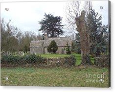 St Mary Church Ampney Acrylic Print by John Williams