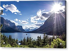 St. Mary Lake Acrylic Print