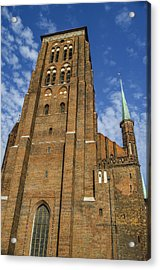St. Mary's Church In Gdansk Acrylic Print by Adam Budziarek