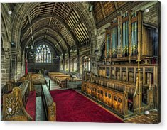 St Marys Church Organ Acrylic Print by Ian Mitchell