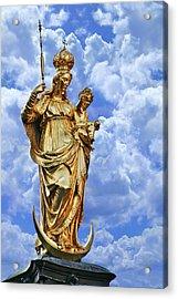 St Mary's Column Marienplatz Munich Acrylic Print by Christine Till