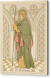St Matthias Acrylic Print by English School