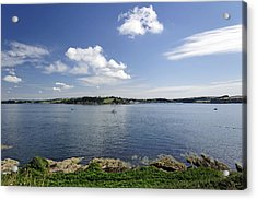 St Mawes From Pendennis Point Acrylic Print by Rod Johnson