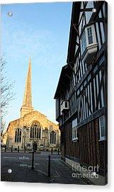 St Michael's Church And Tudor House Southampton Acrylic Print by Terri Waters
