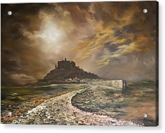 Acrylic Print featuring the painting St Michaels Mount Cornwall by Jean Walker