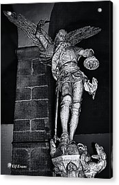 St. Michel Slaying The Dragon Acrylic Print by Elf Evans