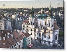 St Nicholas Prague Acrylic Print by Joan Carroll