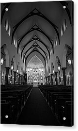 St Patricks Cathedral Fort Worth Acrylic Print by Joan Carroll