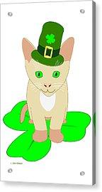 St. Patrick's Day Cat Acrylic Print