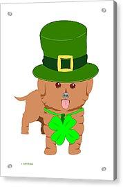 St. Patrick's Dog Acrylic Print