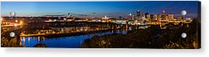 St Paul Skyline At Dusk Acrylic Print