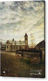 St. Pauls Anglican Church With Wagon  Acrylic Print by Priska Wettstein