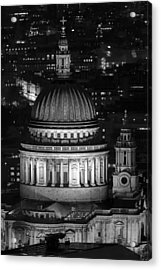 London St Pauls At Night Acrylic Print