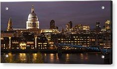 St Paul's At Night Acrylic Print by Nigel Kenny