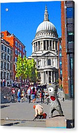 St Pauls Cathedral And Mandeville Acrylic Print
