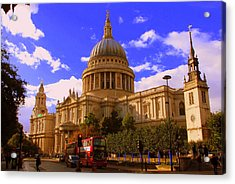 St Pauls Catherdral Acrylic Print by Donald Turner
