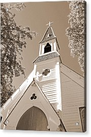 St. Paul's Church Port Townsend In Sepia Acrylic Print