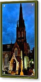 St. Paul's Presbyterian Church Front View Acrylic Print by Danielle  Parent